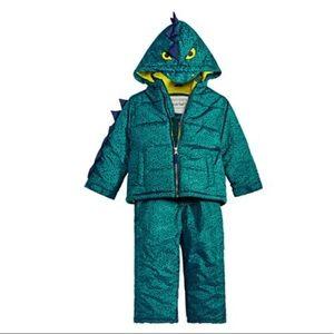 Carter's 2-Piece Green Dinosaur Snowsuit